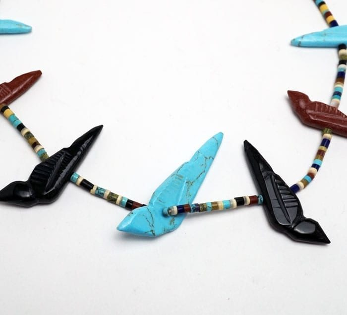 Zuni Bird Fetish Necklace