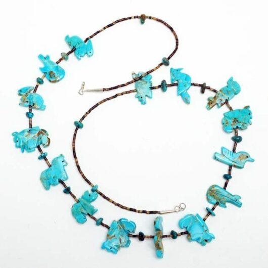 Zuni Turquoise Fetish Necklace
