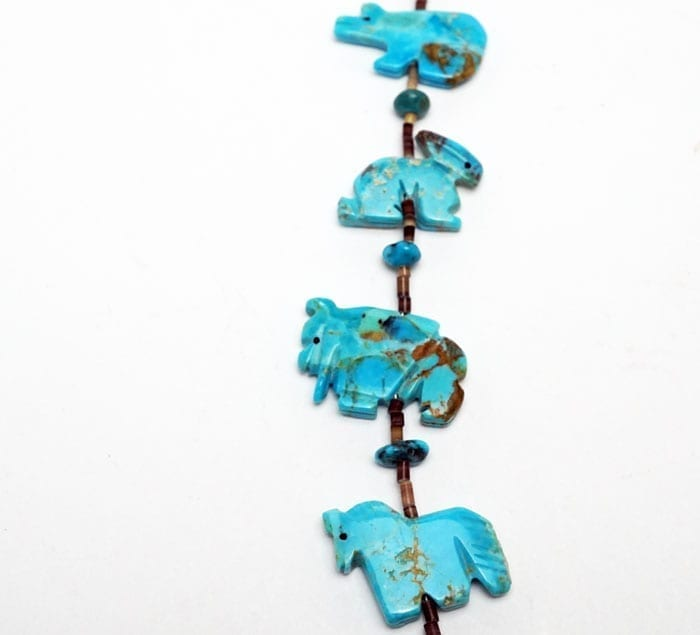 Zuni-turquoise-animal-necklace-SWJ01670-4