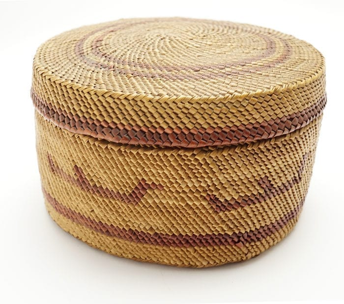 Vintage Makah Baidarka Basket