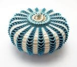 Jeremy Frey Turquoise Urchin Basket Medium