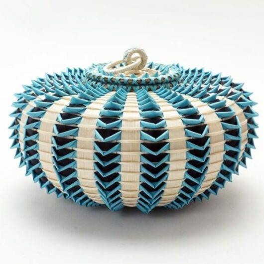Jeremy Frey Turquoise Urchin Basket Medium