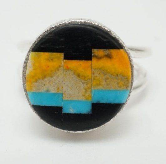 Decontie-Brown bumblebee jasper ring