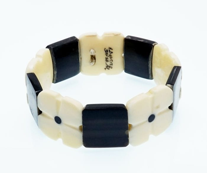 A Olanna baleen and ivory bracelet