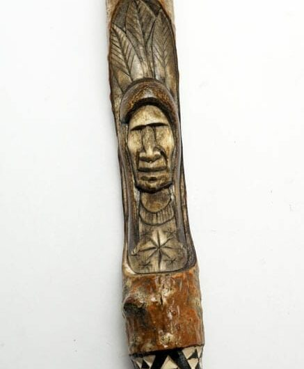 Erik Sappier Chip-carved Talking Stick
