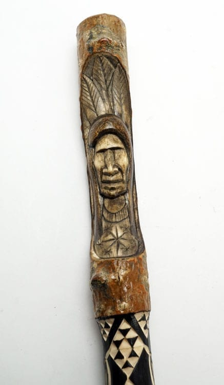 Erik Sappier Chip-carved Talking Stick