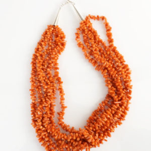 Vintage Six Strand Coral Necklace