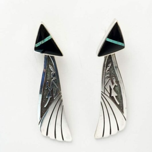 sterling silver figural earrings