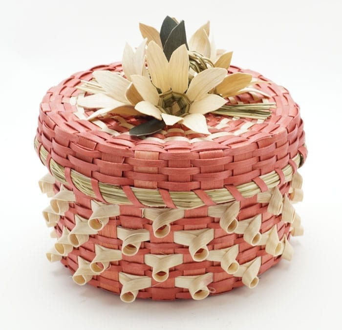Dolly Barnes Pink Flower Basket