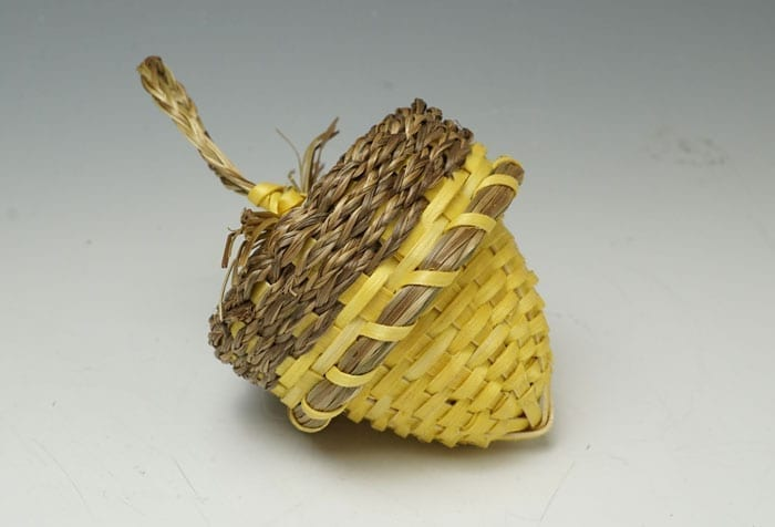 Geo Neptune Miniature Yellow Acorn Basket