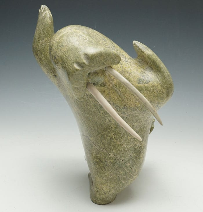 Kelly Qimirpik Green Dancing Walrus