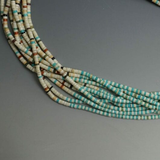 Mary Tafoya Ten Strand Heishi Necklace