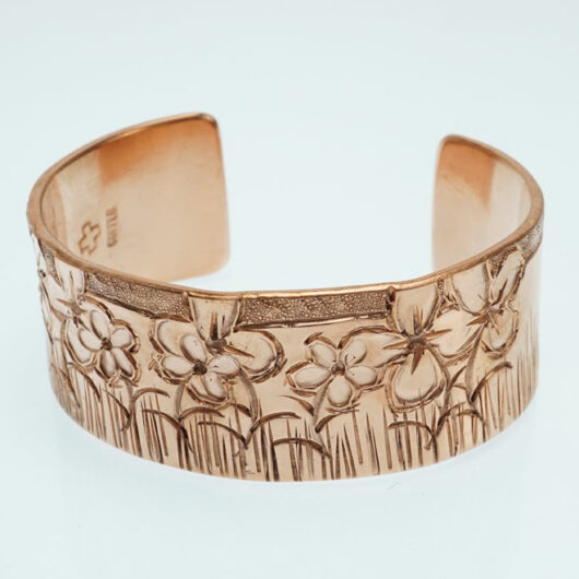 JJ Otero Copper Flower Bracelet