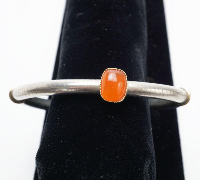 Shawn Bluejacket Orange Citrus Chalcedony bracelet
