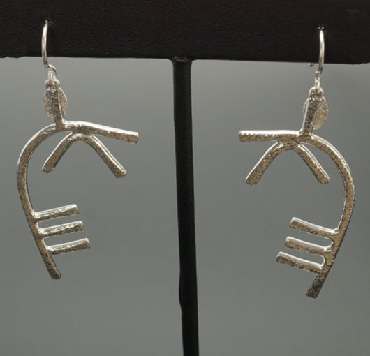 Decontie & Brown Argentium Caribou Antler Earrings