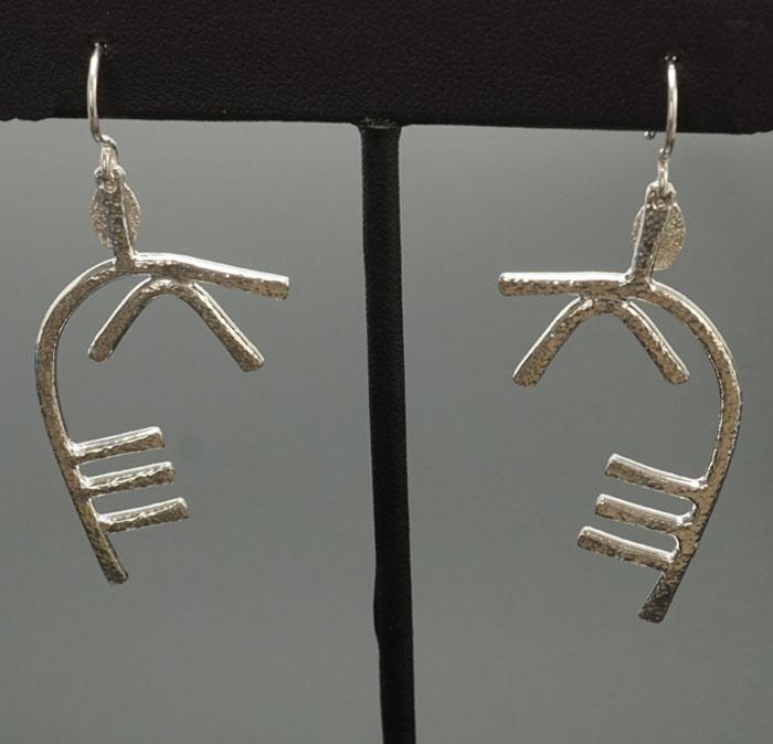 Decontie & Brown Argentium Caribou Antler Earrings