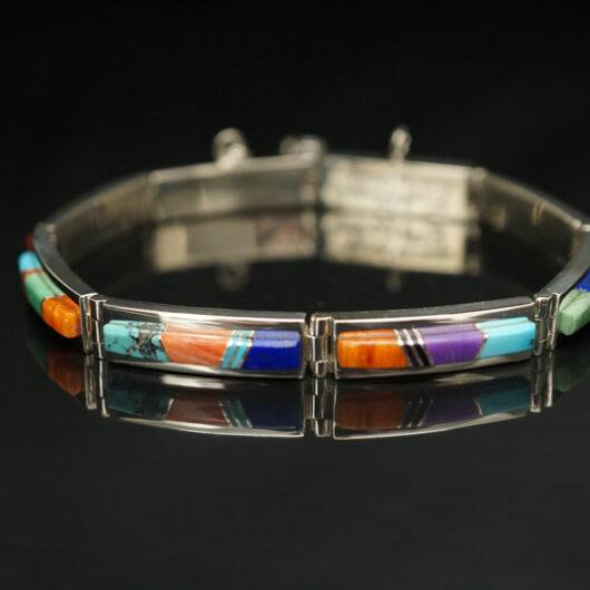 Earl Plummer Colorful Sterling Silver Link Bracelet