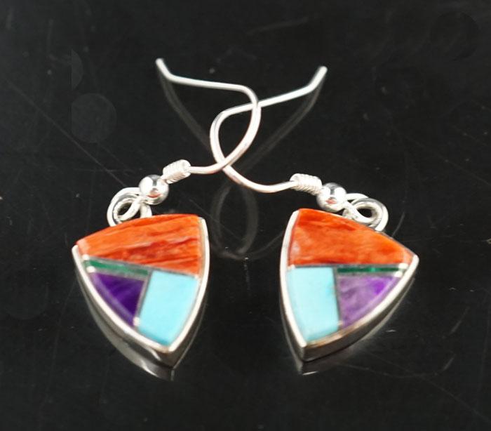 Earl Plummer Sterling Silver Multi-material Earrings