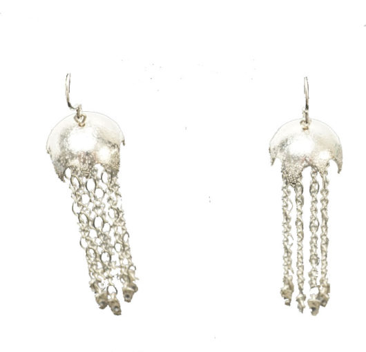 Decontie & Brown Argentium Jellyfish earrings