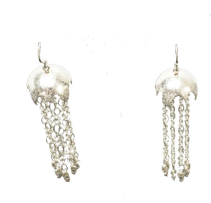 Decontie & Brown Argentium Jellyfish earrings