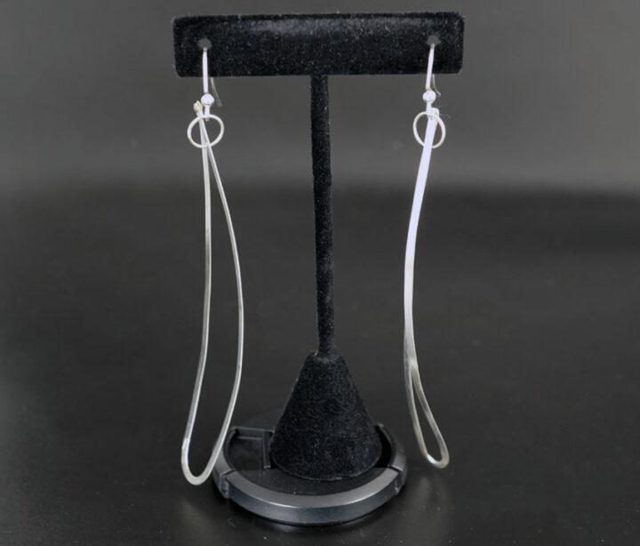 David Gaussoin Sterling Silver Negative Space Earrings