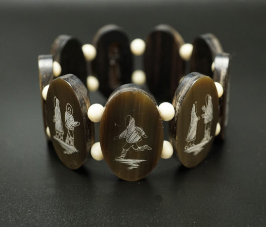 Harry Apodruk Vintage Baleen-wood Love Story Bracelet