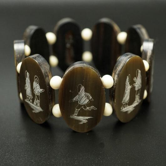 Harry Apodruk Vintage Baleen-wood Love Story Bracelet