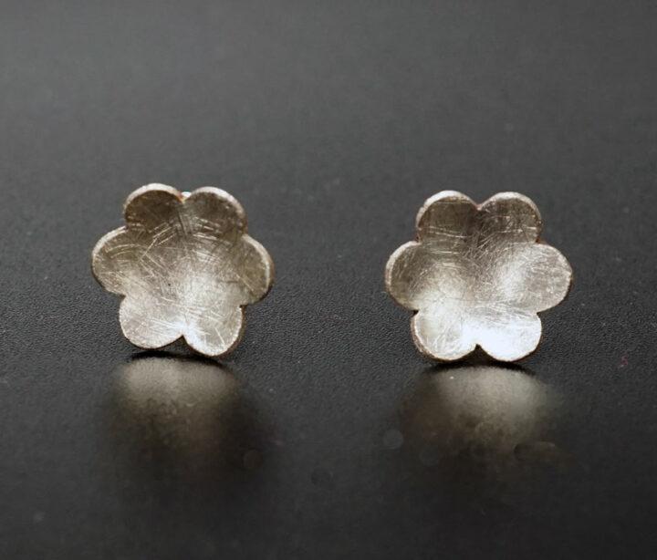 Heidi BigKnife Sterling Silver Flower Earrings