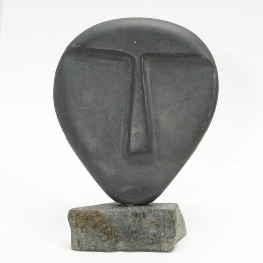 Minimalist Inuit Face Sculpture
