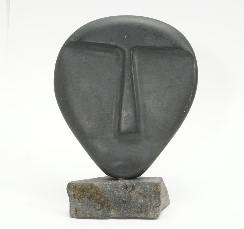 Minimalist Inuit Face Sculpture