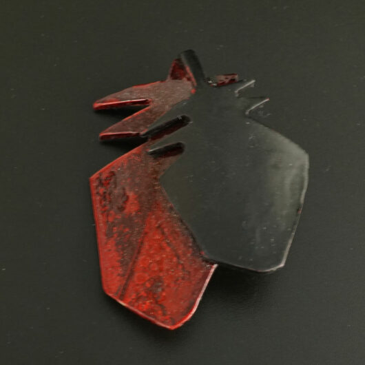 Margaret Jacobs Powder Coated Two Feathers Pin