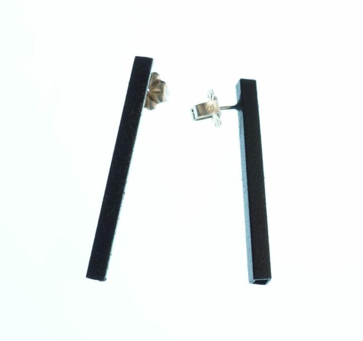 Margaret-Jacobs-Powder-Coated-Square-Tubular-Black-Earrings-NEJ0041-1