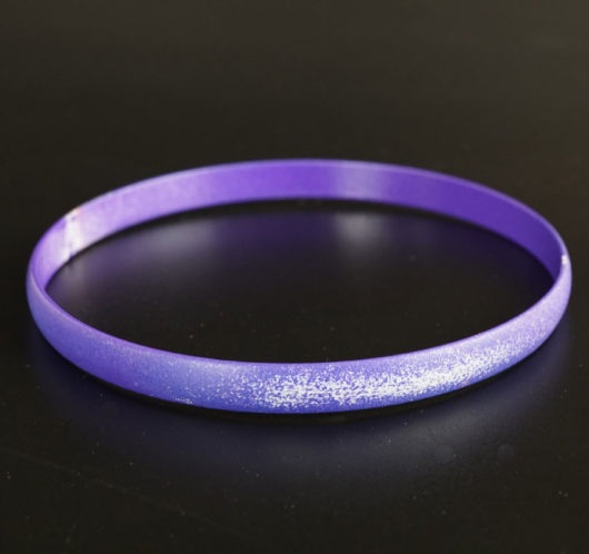 Margaret Jacobs Powder Coated Purple Bangle Bracelet