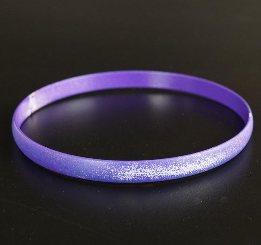 Margaret Jacobs Powder Coated Purple Bangle Bracelet