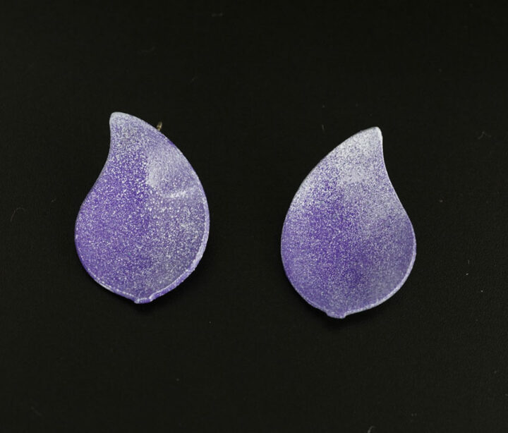Margaret Jacobs Purple Teardrop Powder Coated Earrings