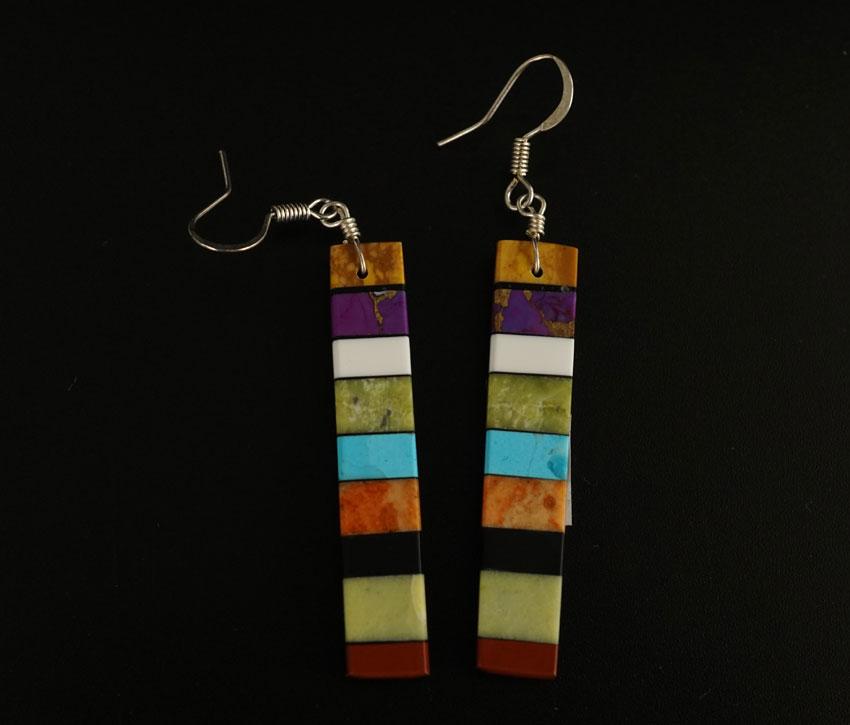 Mary Tafoya Stacked Mosaic Earrings 6