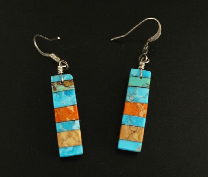 Mary Tafoya Stacked Mosaic Earrings 8