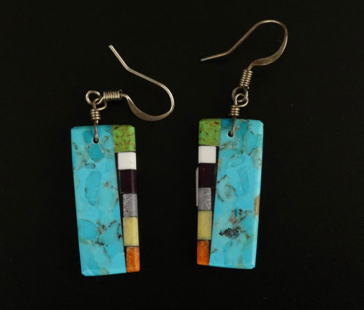 Mary Tafoya Side Mosaic Earrings 6