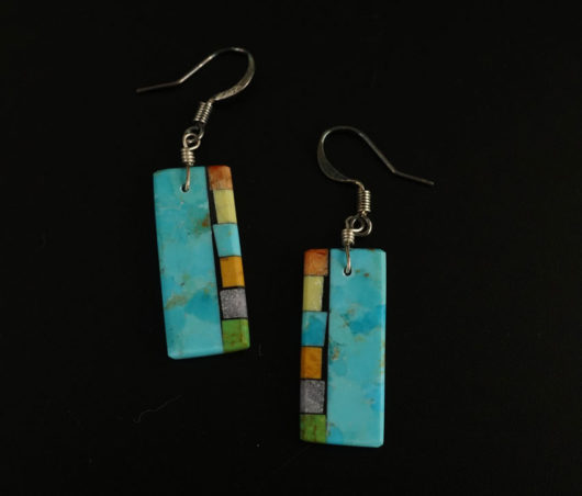 Mary Tafoya Side Mosaic Earrings 7