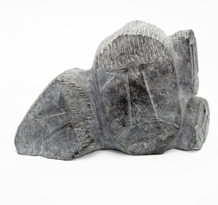 Robert Hallauk Four Face Sculpture