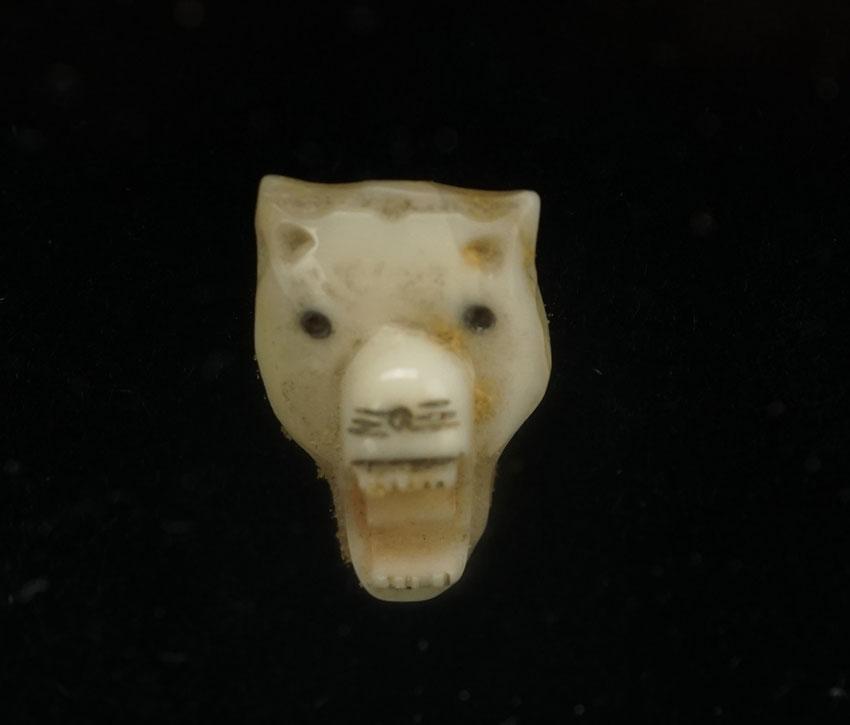 Vintage Alaskan Ivory Wolf head
