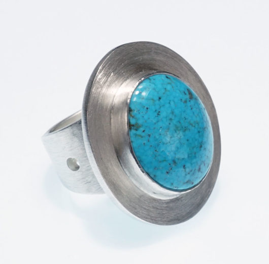 Amelia Joe-Chandler Roundish Turquoise Ring
