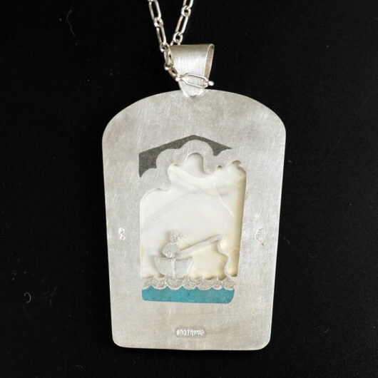 Amelia Joe-Chandler Willow Creek Jasper Fishing Under Partly Cloudy Skies Necklace