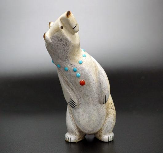Gabe Sice Antler Inlaid Standing Bear 6