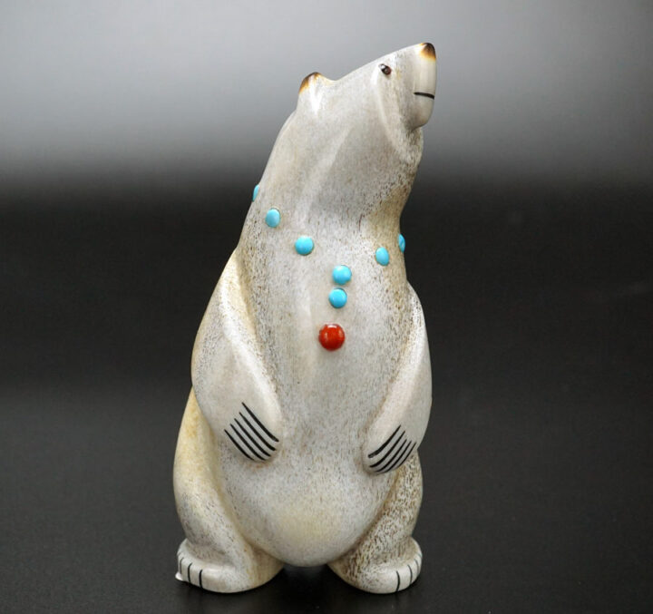 Gabe Sice Antler Inlaid Standing Bear 8