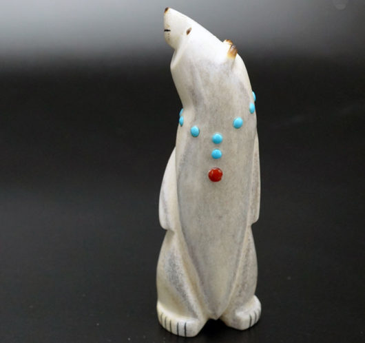 Gabe Sice Antler Inlaid Standing Bear 9