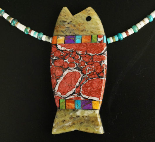 Mary Tafoya Fish Necklace