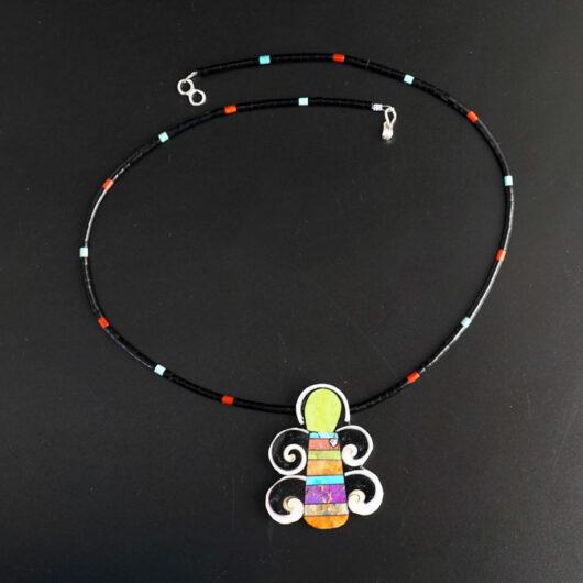 Mary Tafoya Gaspeite Butterfly Necklace
