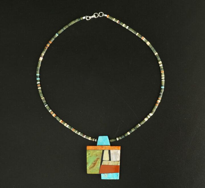 Mary Tafoya Geometric Shapes Necklace