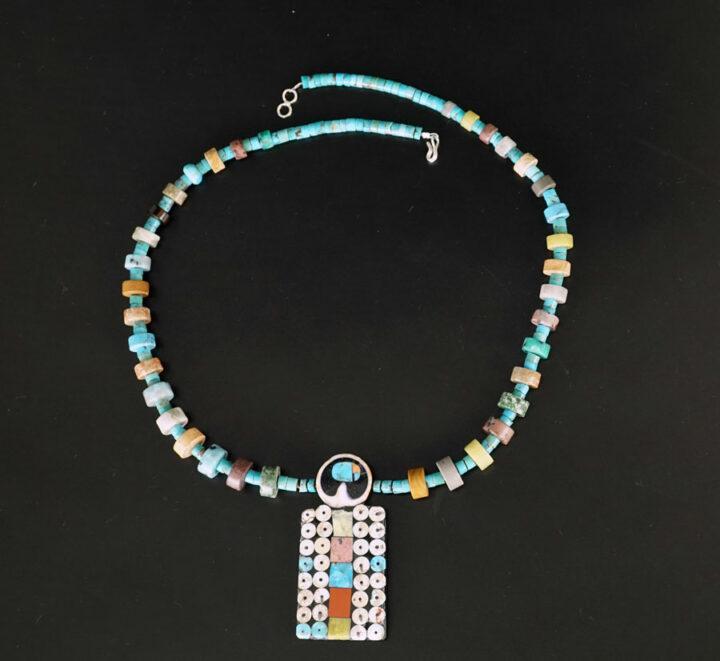 Mary Tafoya Owl Necklace